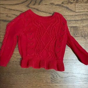 Baby Gap red peplum sweater